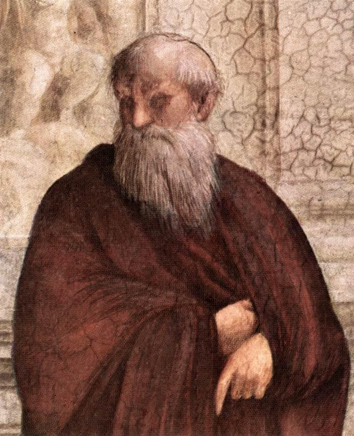 Plotinus door Rafaël ( Stanza della Segnatura, Vaticaan)