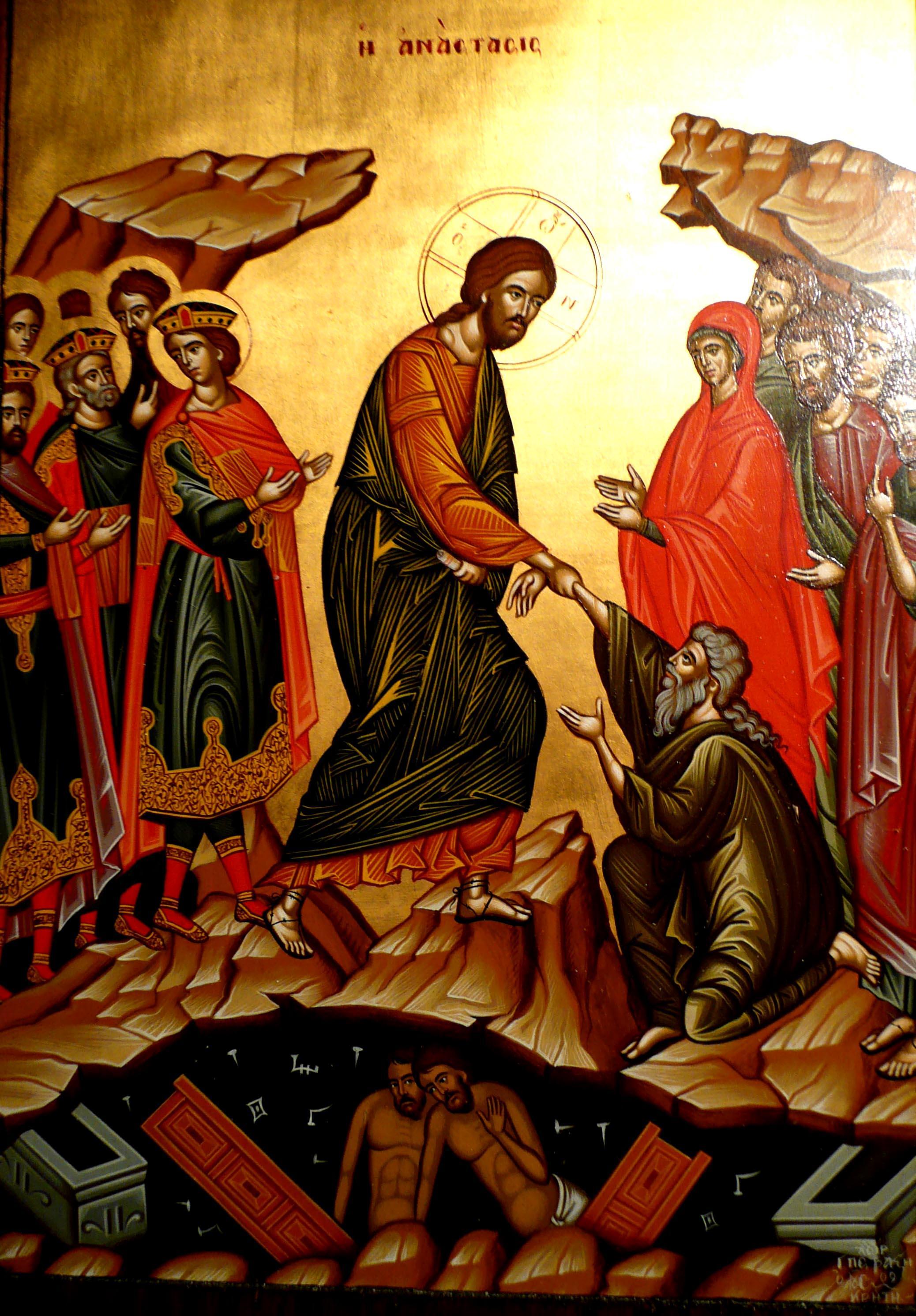 ikoon: de anastasis, de opstanding van Iannis Petrakis, Elounda