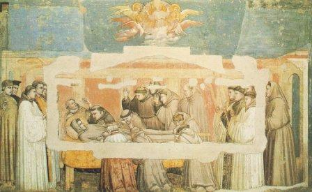 fresco Giotto van sterfbed Franciscus