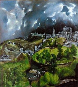 Toledo, waar Joden, Christenen en Moslims langdurig in vrede samenleefden (door el Greco)