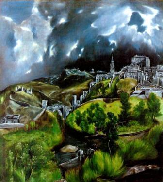 Toledo, schildering door el Greco.