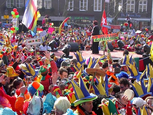 Zoepkoel in Venlo, zaterdag tijdens de carnaval.
