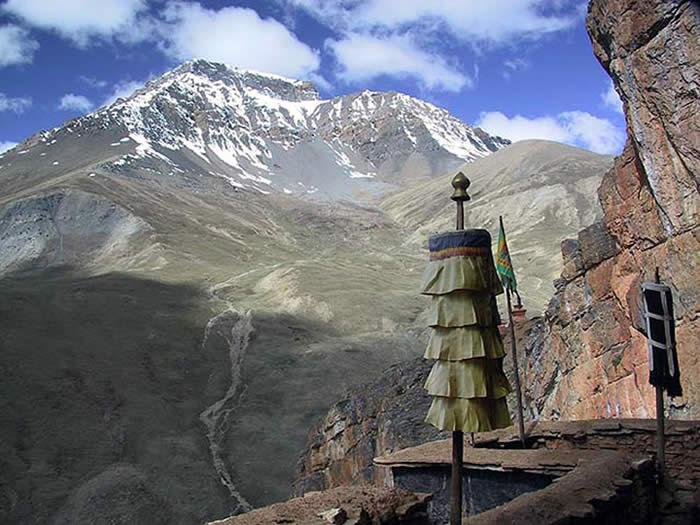 Uitizcht vanuit klooster Shey bij Leh in Ladakh