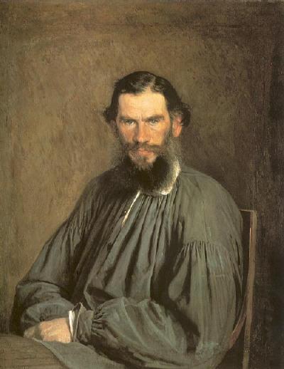 Leo Tolstoj, een portret Ivan Kramskoj
